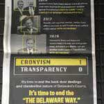 Bouchard's Actions Questioned -- Ad Published in News Journal?